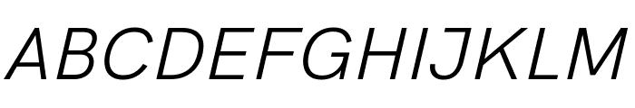 HK Grotesk Italic Font UPPERCASE
