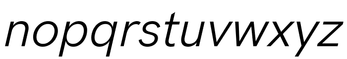 HK Grotesk Italic Font LOWERCASE