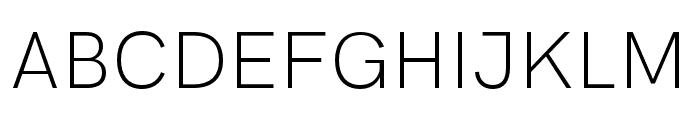 HK Grotesk Light Font UPPERCASE