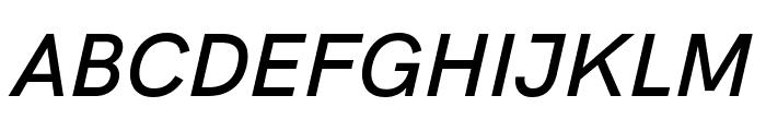 HK Grotesk SemiBold Italic Font UPPERCASE