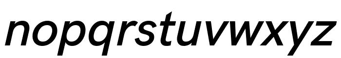 HK Grotesk SemiBold Italic Font LOWERCASE