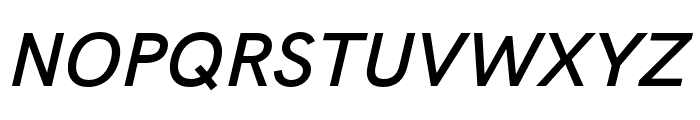 HK Grotesk SemiBold Legacy Italic Font UPPERCASE