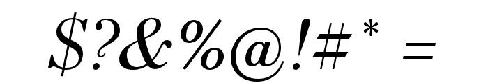 HK Venetian Italic Font OTHER CHARS