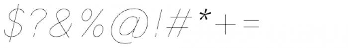 HK Grotesk Pro Hairline Italic Font OTHER CHARS