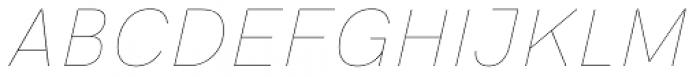 HK Grotesk Pro Hairline Italic Font UPPERCASE