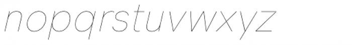 HK Grotesk Pro Hairline Italic Font LOWERCASE