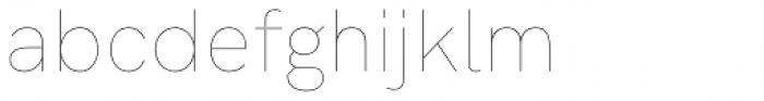 HK Grotesk Pro Hairline Legacy Font LOWERCASE