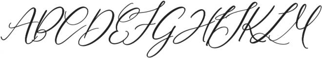 HLF - Montreal Slant otf (400) Font UPPERCASE