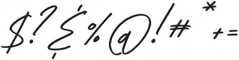 HLF - Rockway Slant otf (400) Font OTHER CHARS