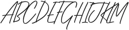 HLF - Rockway Slant otf (400) Font UPPERCASE