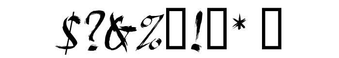 HL Brush 1BK Font OTHER CHARS