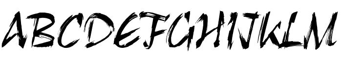 HL Brush 1BK Font UPPERCASE