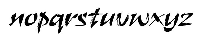 HL Brush 1BK Font LOWERCASE