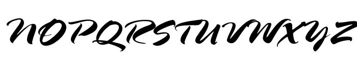 HL Brush 2BK Font UPPERCASE