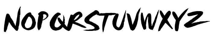 HL Brush 3BK Font UPPERCASE