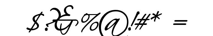 HL Scriptina Medium Font OTHER CHARS