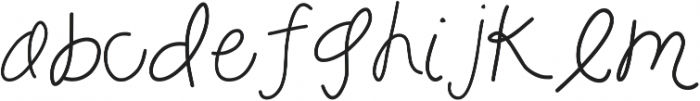 HM-enchanted ttf (400) Font LOWERCASE