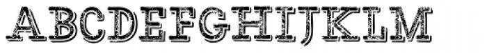 HMS Gilbert Slab Printed Font LOWERCASE