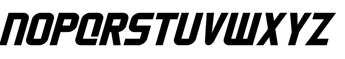 HNkani-Italic Font UPPERCASE