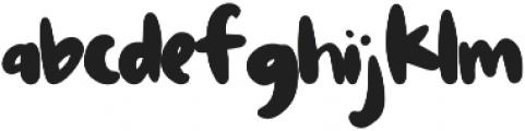 Hoagie otf (400) Font LOWERCASE
