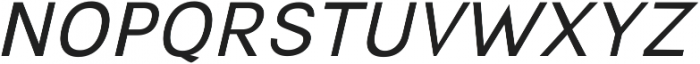 Hobart Sans oblique ttf (400) Font UPPERCASE