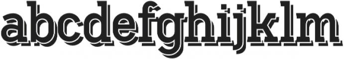 Hodgeson Shadow otf (400) Font LOWERCASE