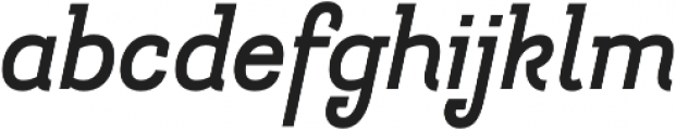Hogar Slab Bold It otf (700) Font LOWERCASE