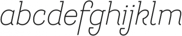 Hogar Slab Light It otf (300) Font LOWERCASE