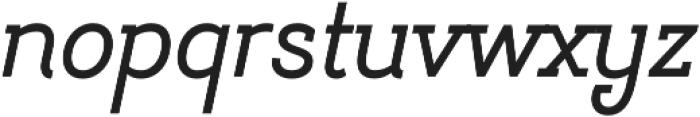 Hogar Slab SemiBold It otf (600) Font LOWERCASE