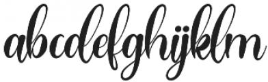 Hogituey otf (400) Font LOWERCASE