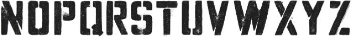 Hogwild Medium otf (500) Font UPPERCASE