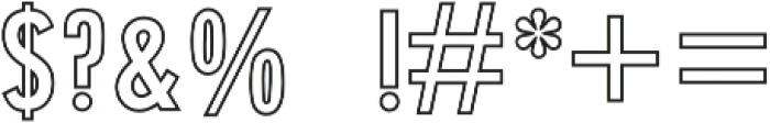 Holder Stamp otf (400) Font OTHER CHARS