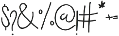 Holga otf (400) Font OTHER CHARS
