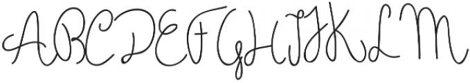 Holga otf (400) Font UPPERCASE