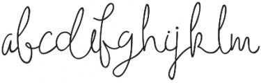 Holga otf (400) Font LOWERCASE