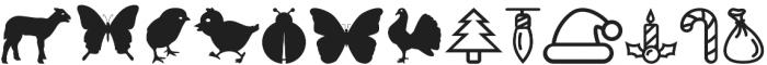 Holidaiki Symbols otf (400) Font LOWERCASE