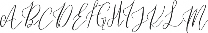Holiday Coffee otf (400) Font UPPERCASE
