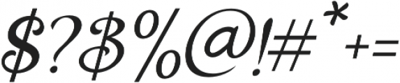 Holiday Present Italic otf (400) Font OTHER CHARS
