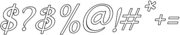 Holiday Present Outline Italic otf (400) Font OTHER CHARS