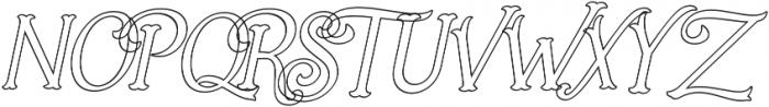Holiday Present Outline Italic otf (400) Font UPPERCASE