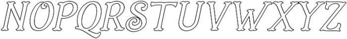 Holiday Present Outline Italic otf (400) Font LOWERCASE