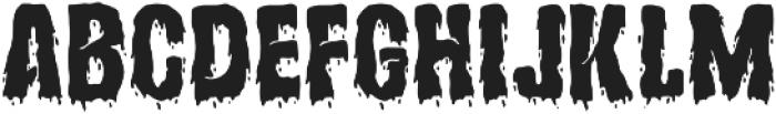 Hollows Regular otf (400) Font UPPERCASE