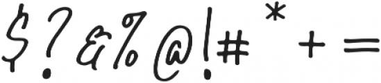 Hollybear Regular otf (400) Font OTHER CHARS