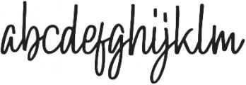 Hollybear Regular otf (400) Font LOWERCASE