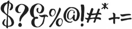 Hollycakes otf (400) Font OTHER CHARS