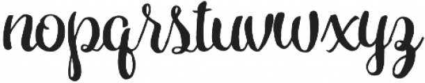 Hollycakes otf (400) Font LOWERCASE