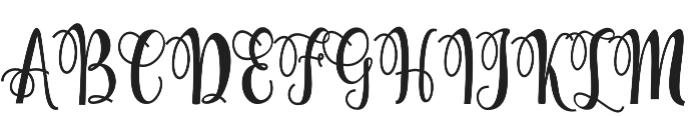 Hollyn otf (400) Font UPPERCASE