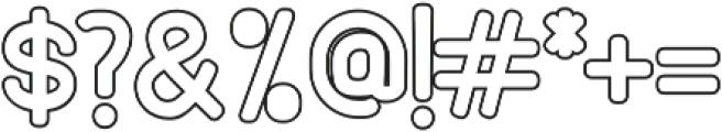 Holy Outline otf (400) Font OTHER CHARS