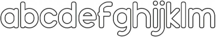 Holy Outline otf (400) Font LOWERCASE