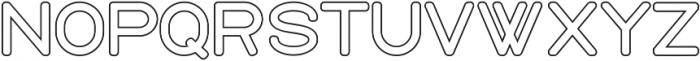 Holy Outline ttf (400) Font UPPERCASE